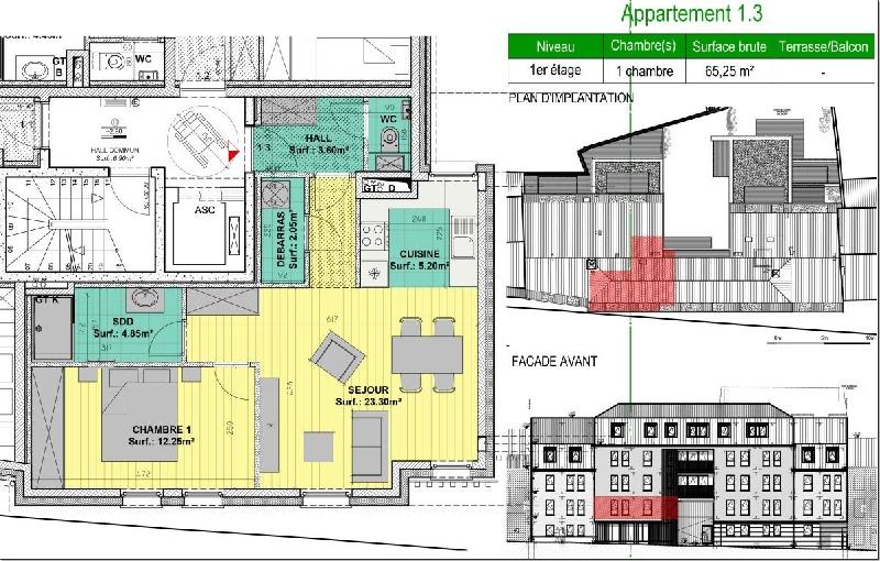 Appartement 1 chambres - Xcellence immobilière
