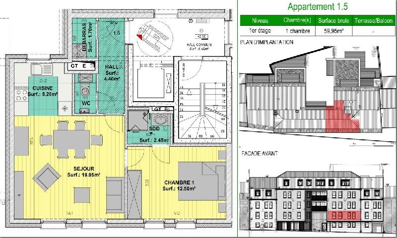 TB Appartement 1 chambre ideal comme placement - Xcellence immobilière